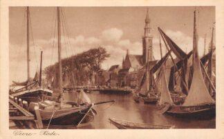 Ansichtkaart Veere Kade Haven met vissers schepen Noord-Beveland HC24712