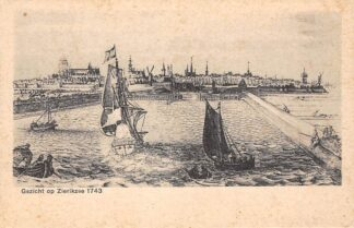 Ansichtkaart Zierikzee Gezicht op Zierikzee 1743 Schouwen-Duiveland HC24729