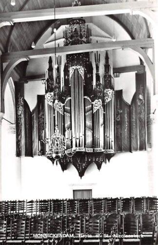 Ansichtkaart Monnickendam Grote of- St. Nicolaaskerk Orgel Interieur kerk Dispostie HC24746