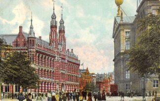 Ansichtkaart Amsterdam Postkantoor Achterzijde Paleis 1910 HC24797