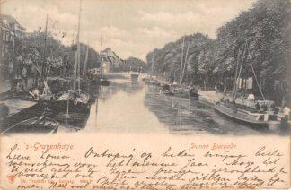 Ansichtkaart 's-Gravenhage Dunne Bierkade 1902 Binnenvaart schepen Scheepvaart HC24798