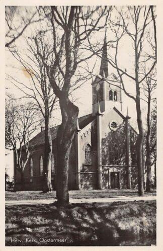Ansichtkaart Oostermeer (FR) Hervormde Kerk 1951 Tietjerksteradeel HC24805