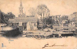 Ansichtkaart Edam Scheepswerf 1901 Schepen Scheepvaart HC24862