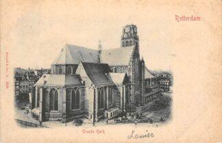 Ansichtkaart Rotterdam Groote Kerk 1903 HC24902