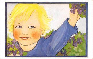 Ansichtkaart Fantasie Illustrator Rie Cramer Onze Lievelingen Hoera! 1944 HC24909