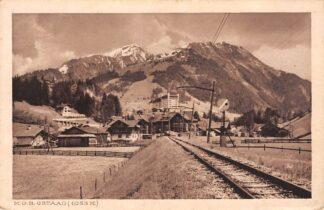 Ansichtkaart Zwitserland M.O.B. Gstaad Spoorwegen Schweiz Suisse Switzerland Europa 1923 HC24910