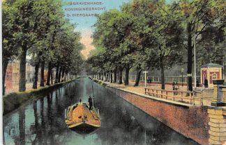 Ansichtkaart 's-Gravenhage Koninginnegracht bij Diergaarde Dierentuin Zoo 1916 HC24920
