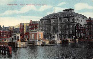 Ansichtkaart Amsterdam Binnen Amstel met Circus Carre en sluis HC24937