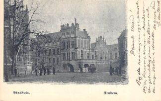 Ansichtkaart Arnhem Stadhuis 1902 HC24943