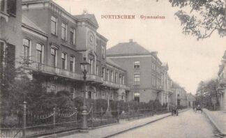 Ansichtkaart Doetinchem Van Nispenstraat Gymnasium School Hondenkar 1919 HC24948