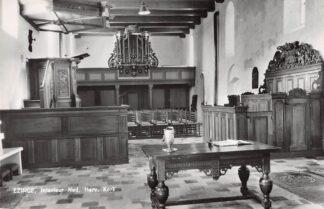 Ansichtkaart Ezinge Interieur Ned. Hervormde Kerk met orgel 1963 Westerkwartier Groningen HC24965
