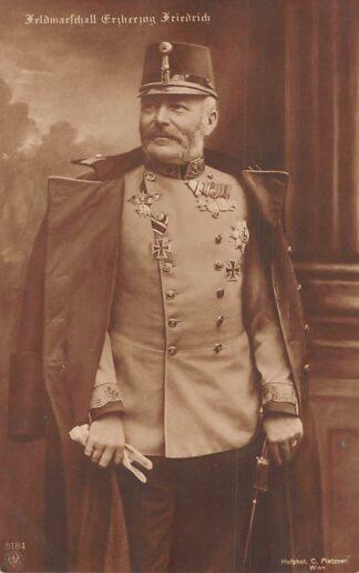 Ansichtkaart Oostenrijk Militair WO11914-1918 Feldmarschall Erzherzog Friedriech von Osterreich Austria Europa HC24997