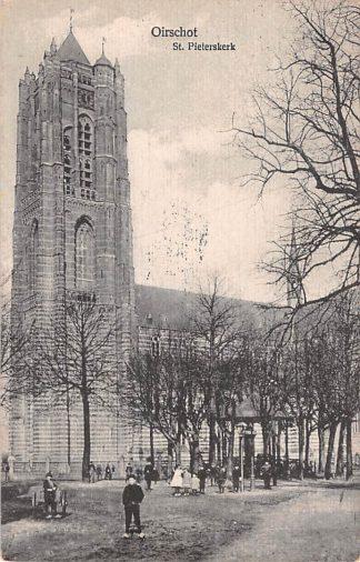 Ansichtkaart Oirschot St. Pieterskerk met kinderen 1926 HC25002