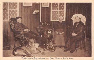 Ansichtkaart Noord-Brabantsch Dorpsleven Oost West - Thuis best Klederdracht 1929 HC25013
