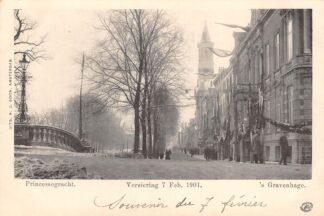 Ansichtkaart 's-Gravenhage Princessegracht Versiering 7 Geb. 1901 HC25027