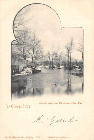 Ansichtkaart 's-Gravenhage Gezicht aan den Wassenaarschen Weg in de winter HC25040