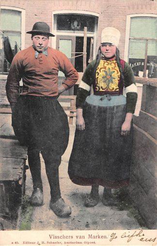 Ansichtkaart Marken Visschers van Marken 1904 Klederdracht HC25042