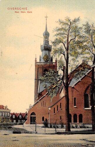 Ansichtkaart Rotterdam Overschie Ned. Herv. Kerk HC25043