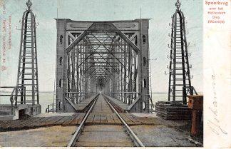 Ansichtkaart Moerdijk Spoorbrug over het Hollandsch Diep Dordrecht Spoorwegen 1905 HC25070