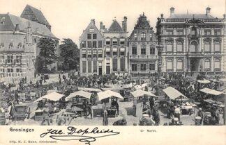 Ansichtkaart Groningen Gr. Markt Marktdag 1902 Volksleven HC25078