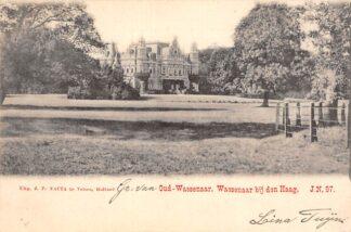 Ansichtkaart Oud-Wassenaar Kasteel Wassenaar bij Den Haag 1902 Nauta J.N. 97 's-Gravenhage HC25091