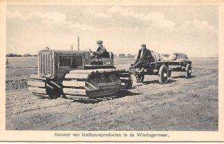 Ansichtkaart Wieringen Aanvoer van landbouwproducten in de Wieringermeer IJsselmeer Zuiderzee HC25108