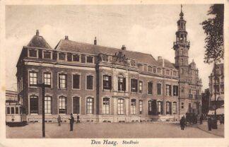 Ansichtkaart 's-Gravenhage Den Haag Stadhuis met HTM Tram 157 Lijn 3 1931 HC25150
