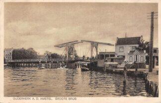 Ansichtkaart Ouderkerk aan de Amstel Groote Brug 1933 HC25168