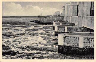 Ansichtkaart Wieringen 3 complexen van elk 5 uitwateringssluizen te Den Oever IJsselmeer Zuiderzee HC25185