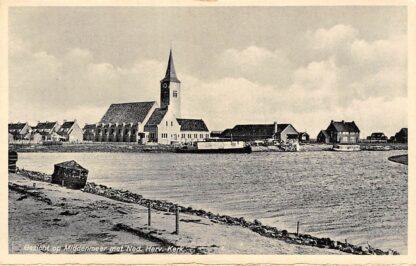 Ansichtkaart Wieringen Gezicht op Middenmeer met Ned. Hervormde Kerk Wieringermeer IJsselmeer Zuiderzee HC25186