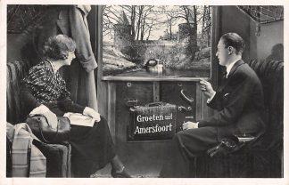 Ansichtkaart Amersfoort Groeten uit 1933 vanuit de trein met Monnikendam HC25204