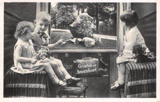 Ansichtkaart Amersfoort Groeten uit 1933 vanuit de trein De Kei Kind HC25206