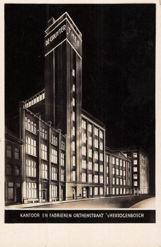 Ansichtkaart 's-Hertogenbosch Orthenstraat Kantoor en Fabrieken De Gruyter Reclame HC25282