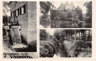 Ansichtkaart Vaassen Groeten uit met Watermolen en Kasteel Molen Epe Veluwe HC25288