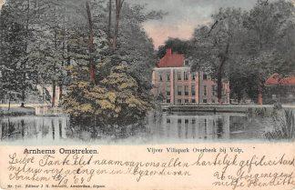 Ansichtkaart Arnhem Omstreken Vijver Villapark Overbeek bij Velp 1904 HC25297