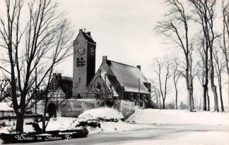 Ansichtkaart Sloten (FR) Winter R.K. Kerk in de sneeuw HC25298