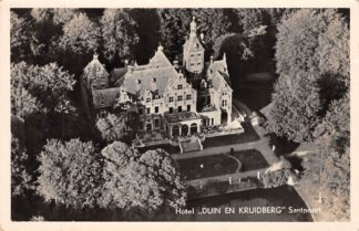 Ansichtkaart Santpoort Hotel Duin en Kruidberg Luchtfoto 1951 Bloemendaal Haarlem HC25300
