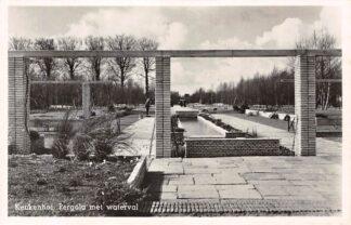 Ansichtkaart Lisse Keukenhof Pergola met waterval Bloembollenvelden 1950 HC25307