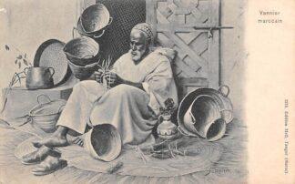 Ansichtkaart Marokko Maroc Vannier marocain Mandenvlechter Afrika HC25308