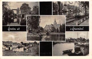 Ansichtkaart 's-Gravendeel Vijfluik 1957 Hoeksche Waard HC25362