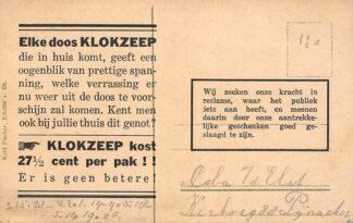 Ansichtkaart Heerde Reclame Zeepfabriek De Klok klokzeep Veluwe HC25394