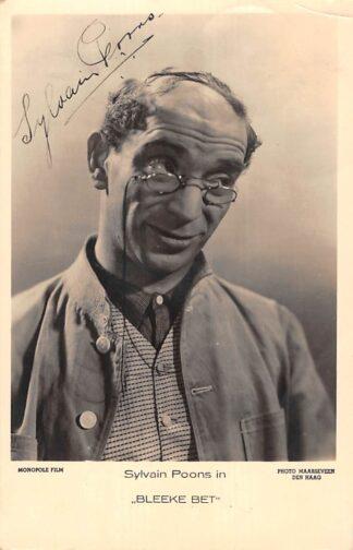 Ansichtkaart Film Filmster Sylvain Poons in Bleeke Bet Gesigneerd Monopole Film Rotterdam 1935 HC25402