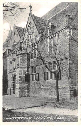Ansichtkaart Edam Zuiderportaal Grote Kerk HC25476