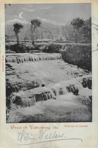Ansichtkaart Geulhem Groet uit Valkenburg (LB) Waterval in Geulem 1900 HC25479