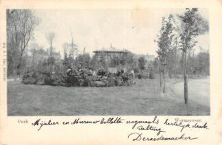 Ansichtkaart Wormerveer Park met muziektent 1901 HC25494