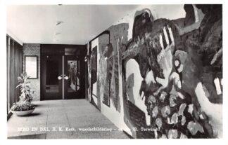 Ansichtkaart Berg en Dal bij Nijmegen R.K. Kerk wandschildering entree 1967 HC25495
