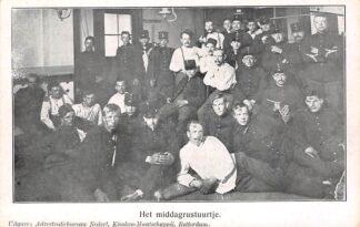 Ansichtkaart Militair Mobilisatie WO1 1914-1918 Kazerne leven Het middagrustuurtje HC25664