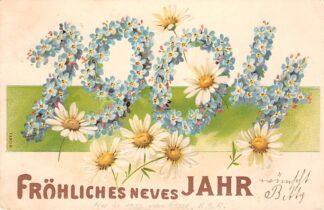 Ansichtkaart Duitsland Frohliches neues Jahr 1904 Reliëfkaart Fantasie Deutschland Europa HC25667