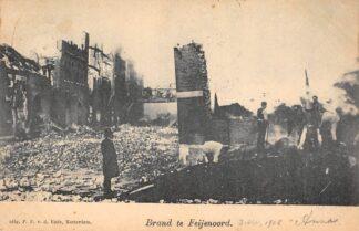 Ansichtkaart Rotterdam Brand te Feijenoord 1902 HC25703