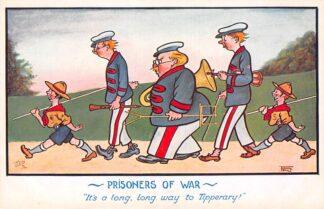 Ansichtkaart Engeland WO1 1914-1918 Prisoners of War It's al long, long way to Tipperary! Illustrator Frank Ball Humor Padvinderij Scouting England Europa HC25705